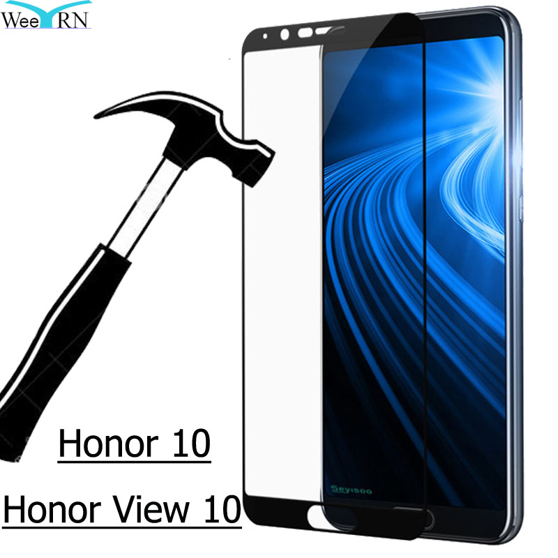 10/Honor 10-Screen-Protector Tempered-Glass-Film View 9H Huawei FOR Full-Coverage