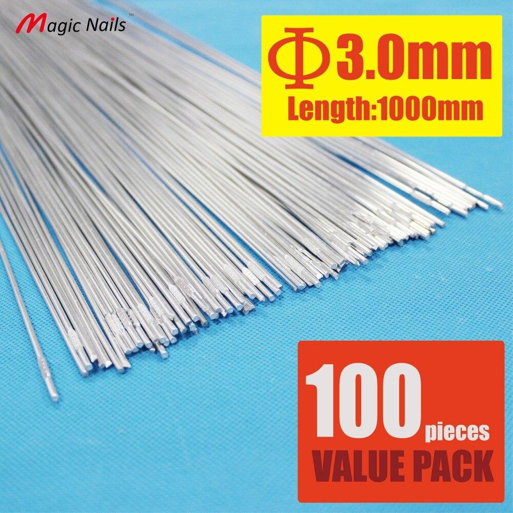 Здесь можно купить   Pack of 100 Aluminum Brazing Rod Wire Electrode 3.0X1000mm for cast aluminum weld(AR-3-100) Строительство и Недвижимость