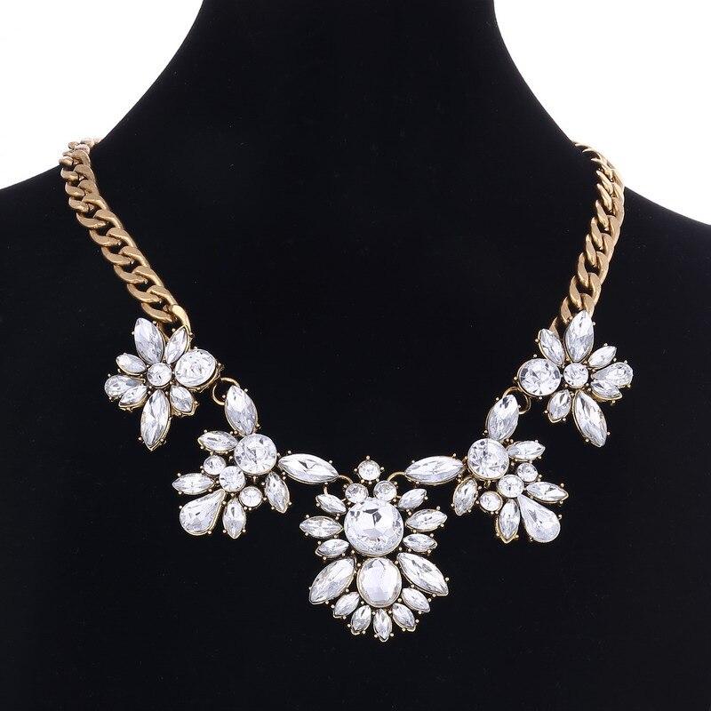 2019 Summer Geometric Fashion Crystal Choker Necklace Women Wedding Boho Statement Necklace Custom Chocker Jewelry Wholesale