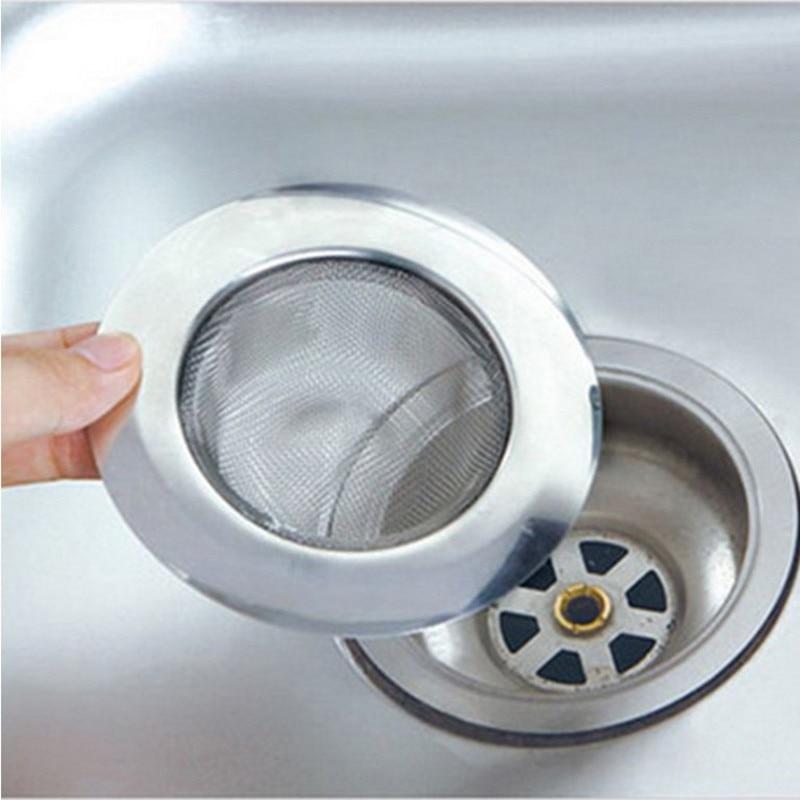 Household Kitchen Bathroom Sink Stainless Steel Sewer Filter Net Water Leakage Net Sink Filter Hair Pad Sink Anti-blocking