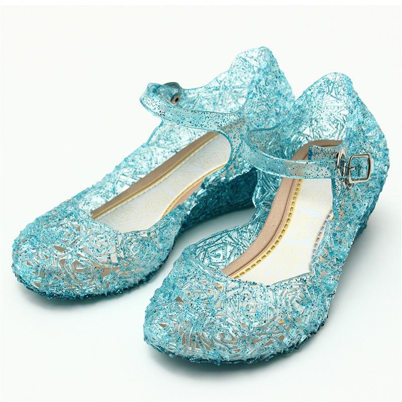 2017 Crystal Girl`s Sandals Princess Cosplay Children`s Shoes Mary Jane Shoes For Stage Dancing Show Kids High Quality Shoes