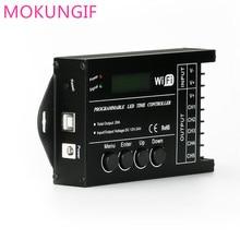 Tempo de LED Dimmer Controlador RGB TC420 TC421 com wifi DC12V 24V 5 Canais Saída Total 20A Ânodo Comum Programável