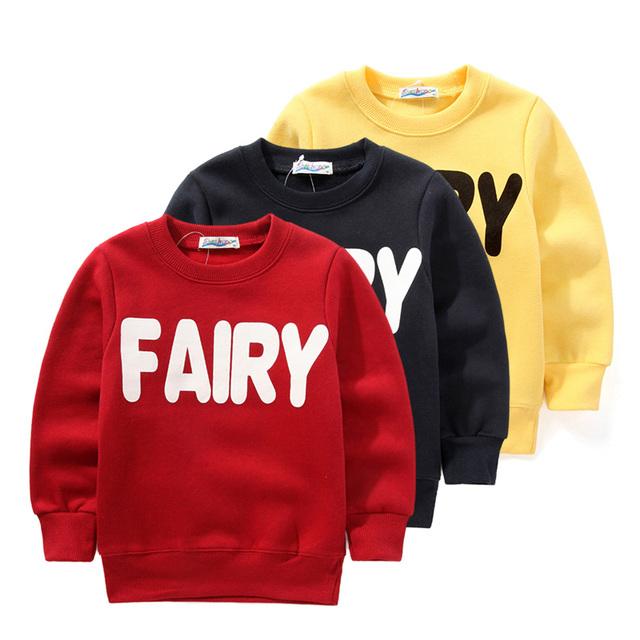 Niños niñas niños jersey sudadera, carta superior prendas de vestir exteriores