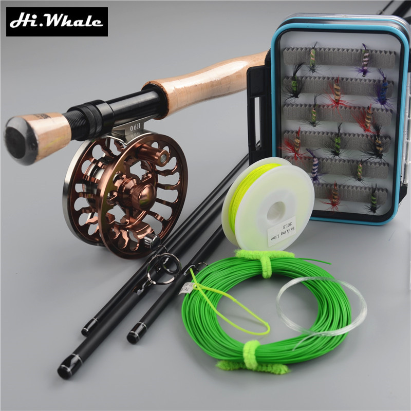 Carbon fly rod 9 ft 2.7m 4 section line wt 7/8# fishing rod and all-metal Fly Reels Fly Fishing combo Fishing Kit fishing tackle цена и фото