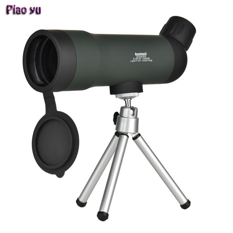 Original Piao Yu 20X50 High-power Monocular Night Vision Telescope with Tripod Outdoor Travel Green Film Optical Scope sheng yu 20 f