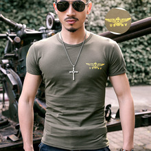 men military t shirt Casual Slim tactical t-shirt solid us army short-sleeve cotton shirt tops Special forces crossfit tees