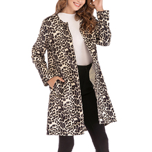 Winter Overcoat Thicken Warm Women Jacket Windbreaker Plus size Leopard Open Front