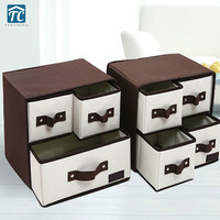 Oxford Cloth Underwear Socks Storage Box Fabric Household Drawer Foldable Multi Grids Containers Home Organizers Divider