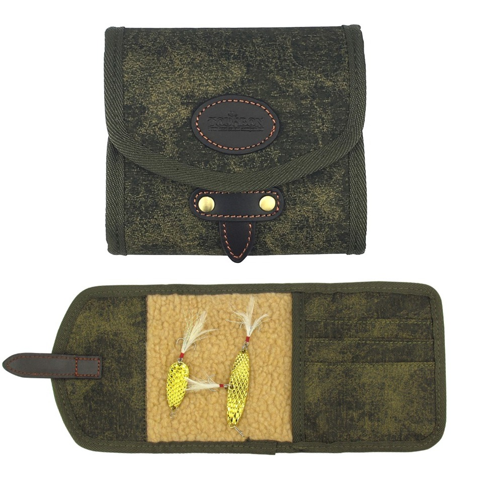Tourbon Canvas Fly Fishing Wallet Pouch