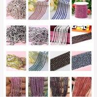 Лидер продаж 1 м/лот 23 Цвет прозрачный горный хрусталь цепи 2/2. 5/2. 8/3 мм для DIY Craft artesanato Швейные Одежда Аксессуары