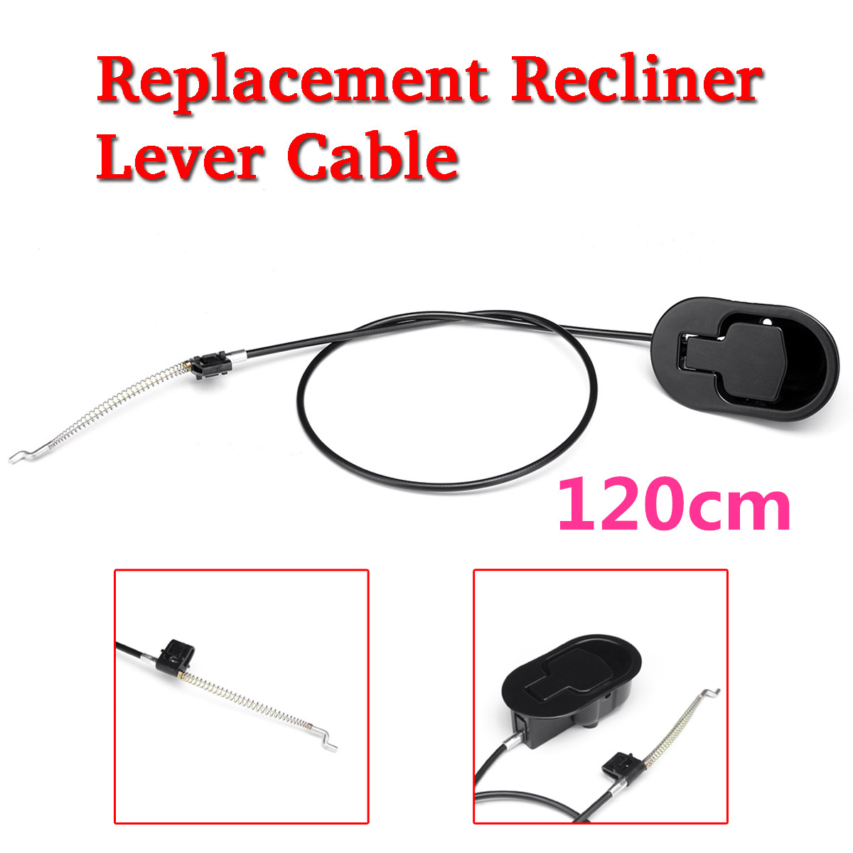 Black Durable Metal Handle Recliner Chair Sofa Couch Release Lever With Spring Cable Replacement Furniture Accessory 2 pcs set durable metal handle recliner chair sofa couch release lever replacement pull handle part black suite recliner