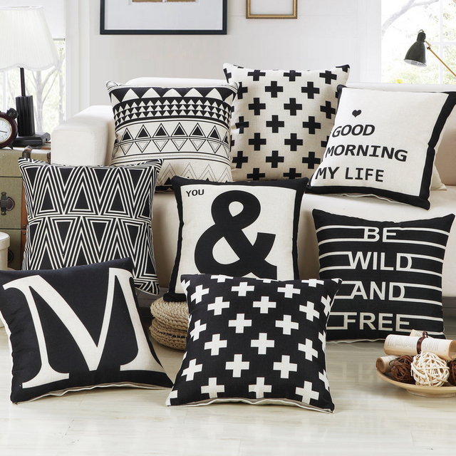 US $8.99 |Simple series sofa large pillow case classic British style office  home decoration cushion cover on the bed against the car 1pc-in Cushion ...