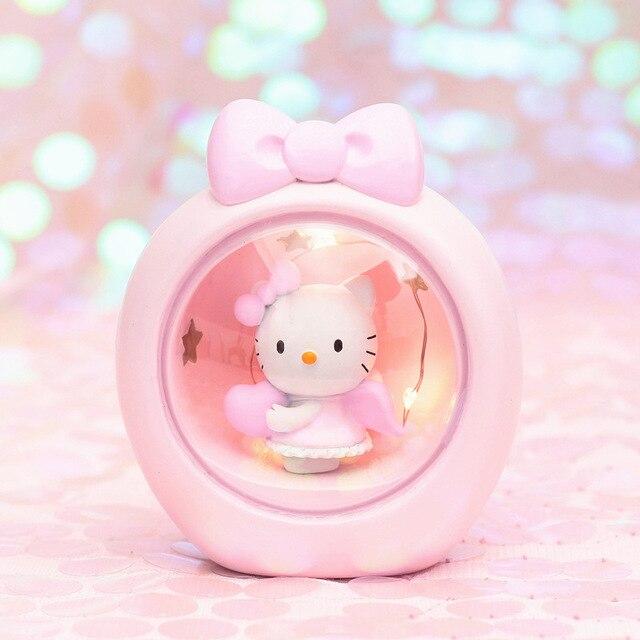 Nuit Étoile Kt Kitty Chambre Veilleuses Chat Mignon Hello Chevet Rose Vacances Lampe Romantique Portable Cadeaux De Lumières Lumière Led Enfants Yb7yvf6g