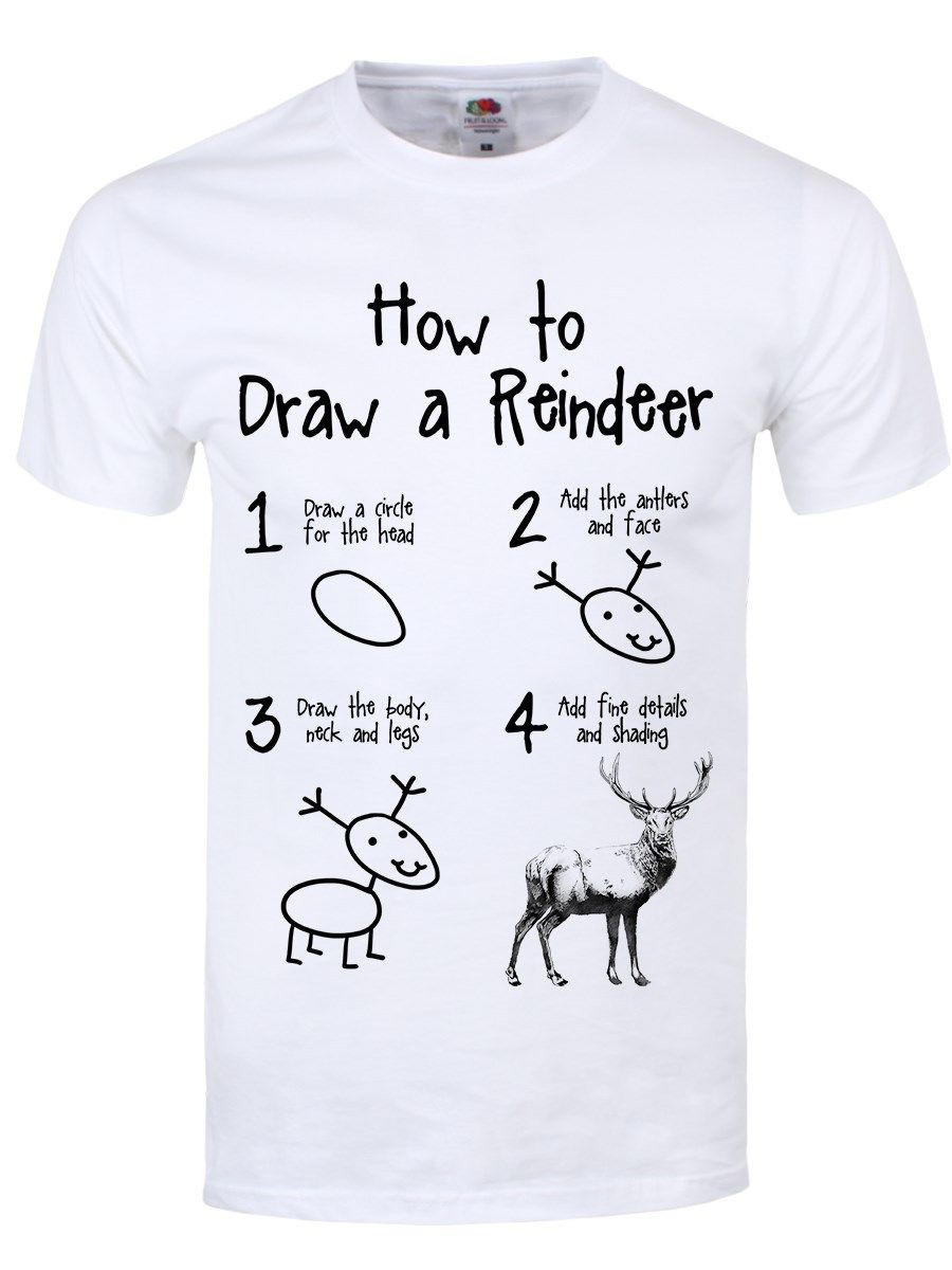 2017 Newest Men Fashion How To Draw A Reindeer Design Men ...