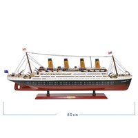 Mediterranean Solid Wood Sailboat Model Cruise Ship Mediterranean Home Furnishings Decoration Murals Furnishing Ornaments Crafts