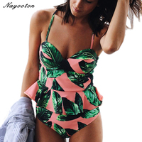Bikini Set 2017 Push Up New High Waist Bikini Bandeau Swimsuit Brazilian Women Swimwear Beach Sexy