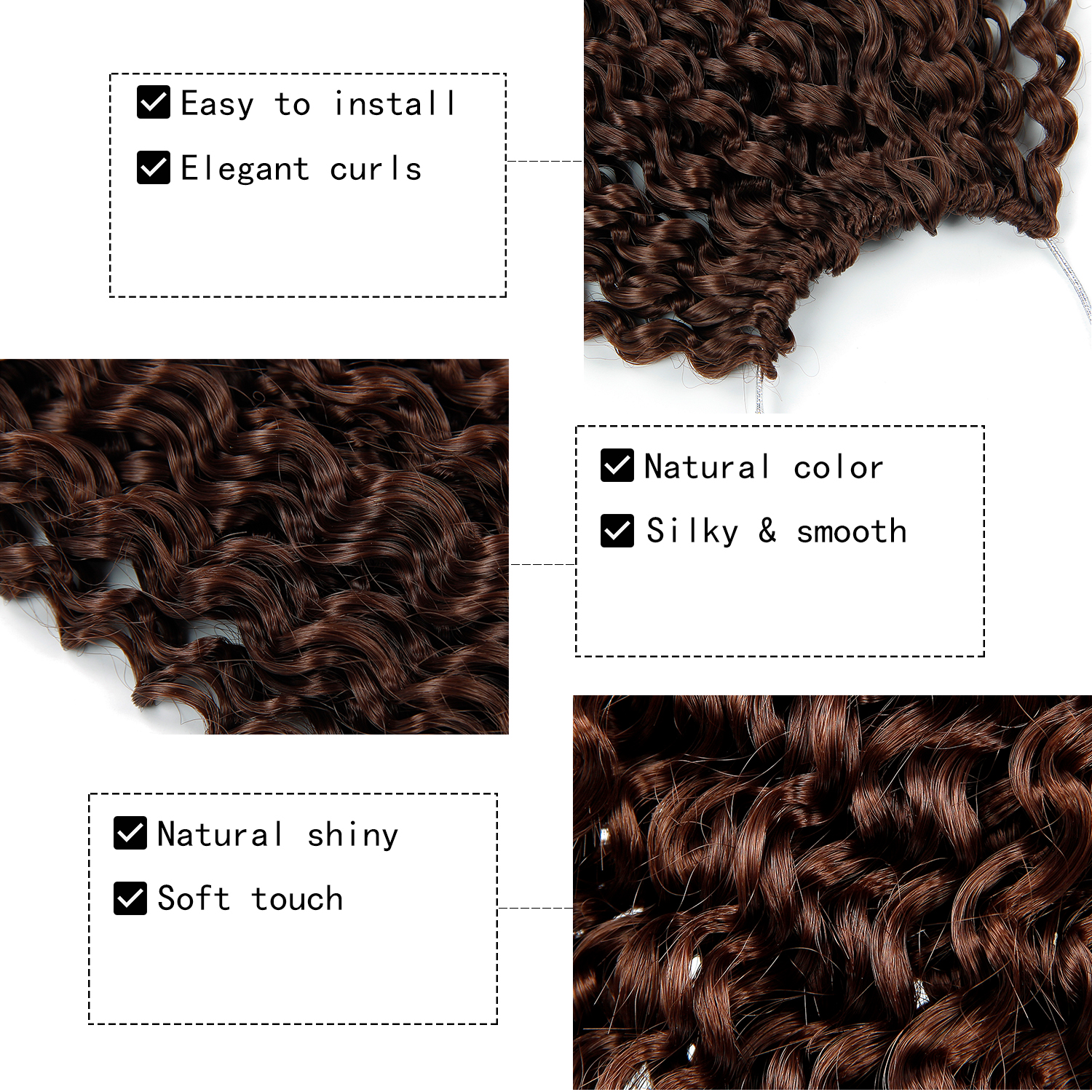 18 inch Crochet Braids Afro Hair Synthetic Ombre Braiding Hair Extensions Blond Black Marly Hair