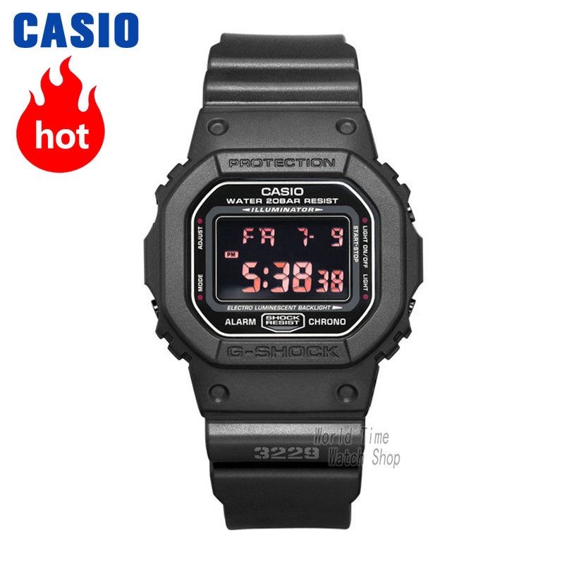 Casio watch G-SHOCK Men's quartz sports watch trend square dial waterproof g shock Watch DW-5600 casio g shock dw 5600wb 7e