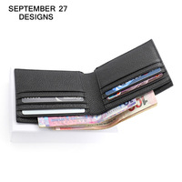 Men's wallet luxury brand genuine leather wallets Short Bifold clutch male purses Card Holder case Money Bag carteira masculina
