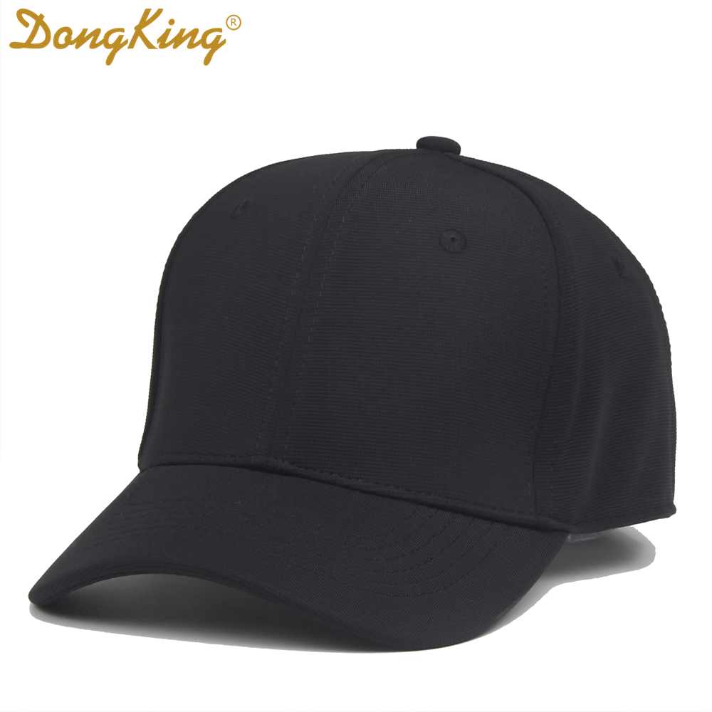 DongKing   Baseball     Caps   Flex Fit for Men Women Fitted Blank Hats Elastic Golf Sports Black White Navy Royal Red Free Shipping