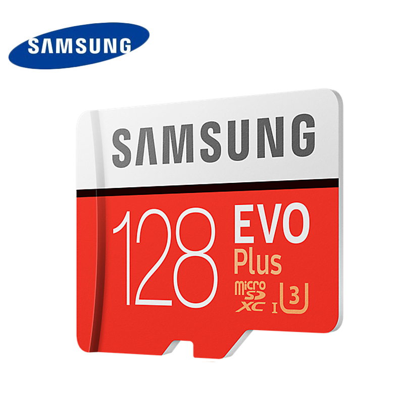 Samsung U3 4K Memory Card 128GB EVO PLUS Micro sd card Class10 UHS-1 Read Speed 100M/S Microsd for Tablet Smartphone original samsung micro sd card memory card evo plus 256gb 128gb 64gb 32gb 16g class10 tf card c10 sim card 100mb s sdhc sdxc uhs i128gb