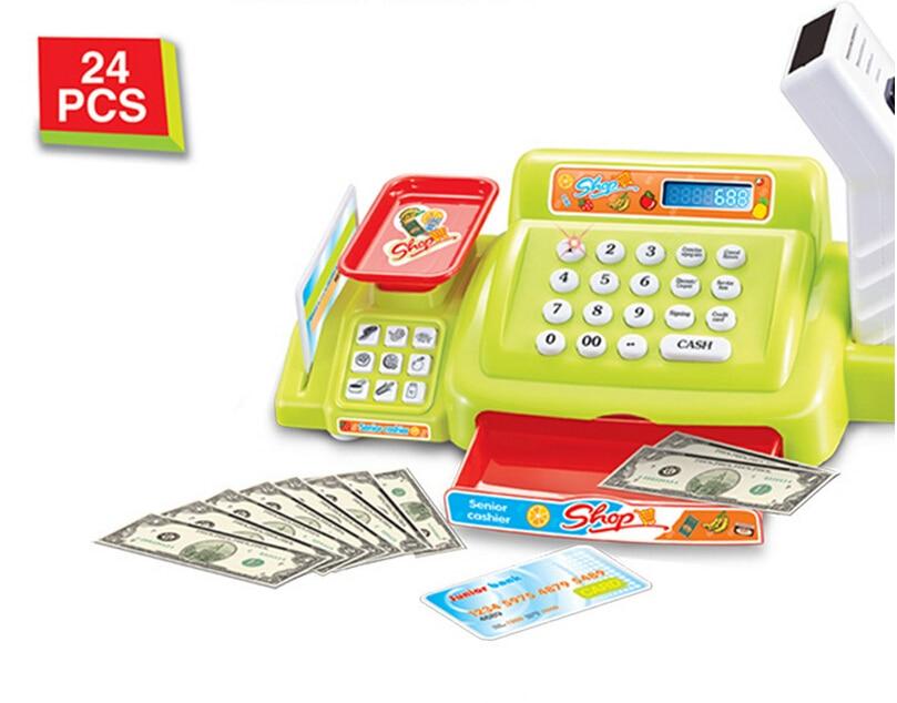 Горячая преподавание супермаркет кассовый Toy моделирование для монет ЖК-дисплей Экран з ...