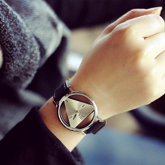 Zegarek damski trójkąt nowoczesny trzy kolory