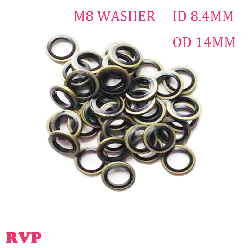 Free Shipping M8 High Pressure Rubber Metal Shim Seal Gasket NBR ...