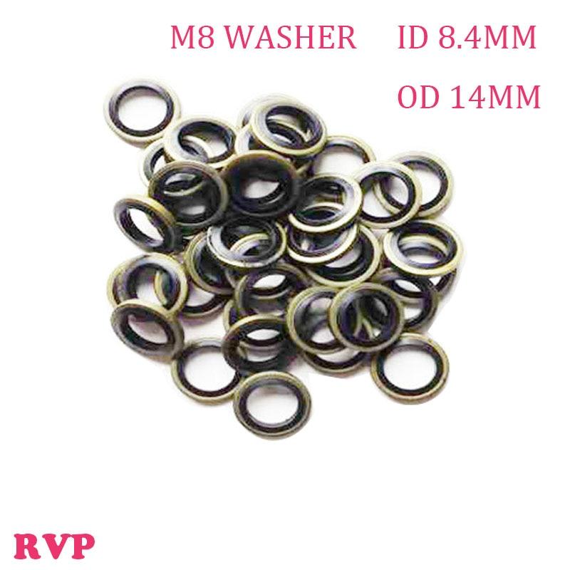 Free Shipping M8 High Pressure Rubber Metal Shim Seal Gasket NBR Metal Washers 1 LOT=100PCS