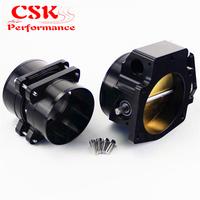 Mass Air Flow Sensor MAF End Intake Adapter+102mm Throttle Body Fits For Chevy LS1 LT4 LT1 Black / Silver
