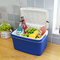 FREE SHIPPING 2016 New Portable 8L Auto Car Mini Fridge Travel Refrigerator Multi-Function Home Cooler Freezer Warmer No charge