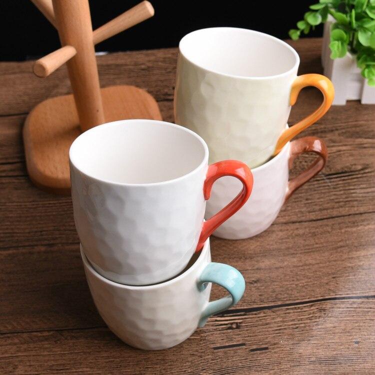4 шт. кружка костюм новый свежий искусство и творческие керамика для внутреннего деревянная рамка прекрасная пара стакана воды кофейная кру... - 4