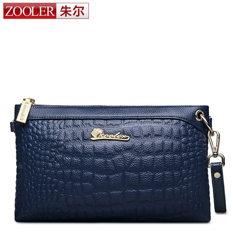 ZOOLER Fashion Women Genuine Leather Messenger Bags Luxury Envelope Casual Shoulder Bag High Quality Zipper Solid New Crossbody luxury good quality new fashion women zipper jumpsuit slim fit skinny jeans rompers pocket denim jumpsuits size sexy girl casual