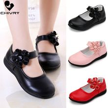Chivry 2019 New Autumn Girls Leather Princess Shoes Children