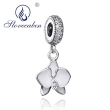 Lily Jewelry Dragonfly Purple CZ Dangle 925 Sterling Silver Bead Fits Pandora European Charm Bracelet xSqTH