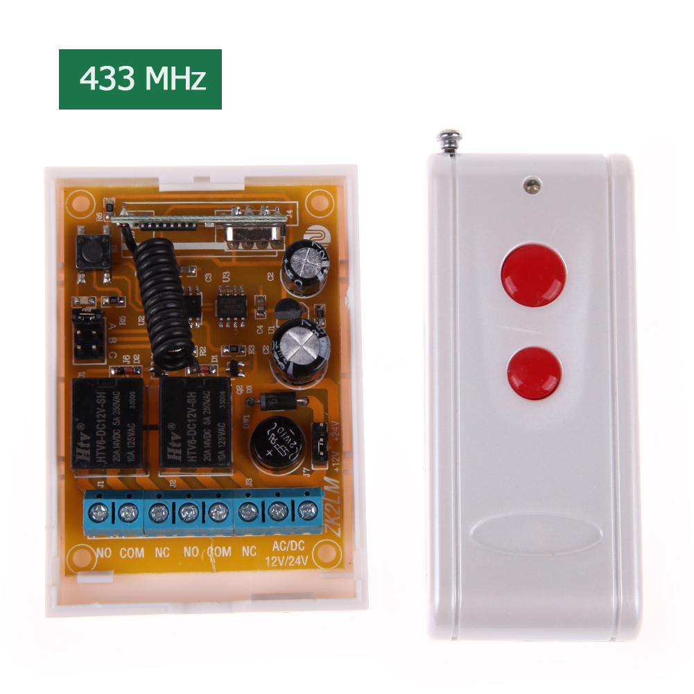 1km 433MHz RF Wireless Remote Control Switch with Remote Control With 2 Button Fixed Code PT2272 PT2262/PT2264/SC2262 wireless service call bell system popular in restaurant ce passed 433 92mhz full equipment watch pager 1 watch 7 call button