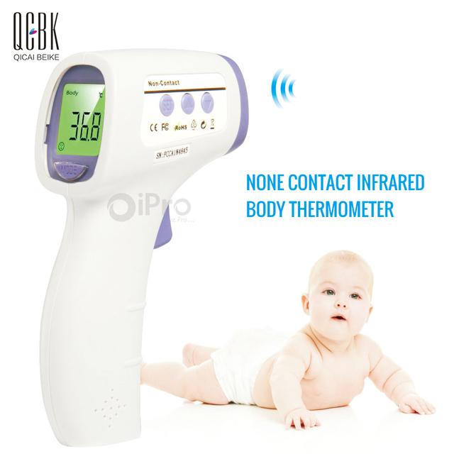 Bebé Termometro Pistola Sin contacto Frente Infrarrojo Termómetro Del Cuerpo Temperatura Thermometre Tres Retroiluminación de Color herramienta de Diagnóstico