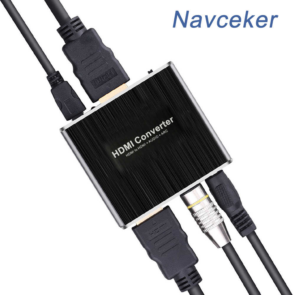 Navceker ProAV 4K 60Hz 3D HDMI to HDMI and Optical SPDIF + 3.5mm Stereo Audio Extractor Converter HDMI Audio Extractor Splitter