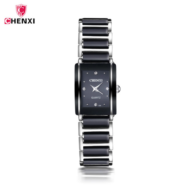 CHENXI Fashion Luxury Ceramic Women's Watch Diamonds women watches  Waterproof Quartz WristWatches Couple watch reloj mujer 40