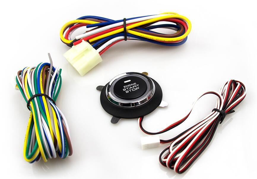 Voiture un démarrage arrêt système moteur verrouillage bouton d'allumage système d'entrée sans clé aller bouton poussoir moteur démarrage bouton d'arrêt accessoire de voiture