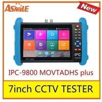 IPC-9800 movtadhs mais novo 7 polegada ips touch screen cctv tester  1280*800 resolução com h.265 & h.264  4 k display via mainstream