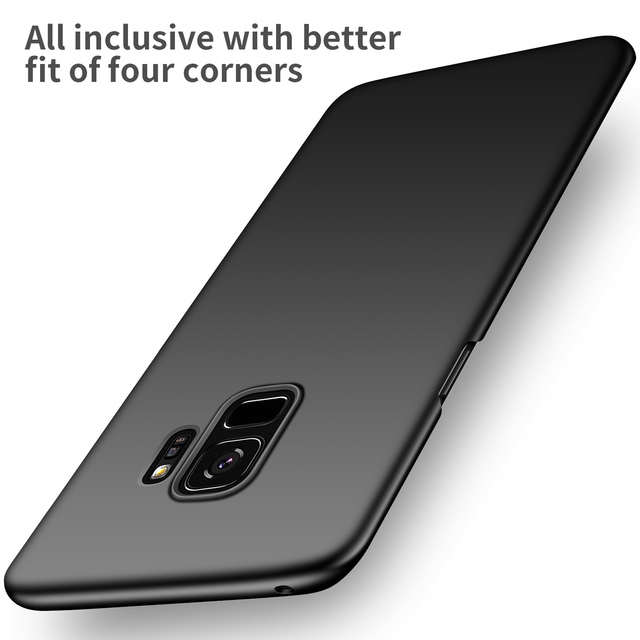 new style c3cd0 1f4f3 US $4.41 6% OFF|For Samsung Galaxy S9 S9Plus Case Hard PC Slim Coque Matte  Skin Protective Back cover cases for samsung s9 plus full cover shell-in ...