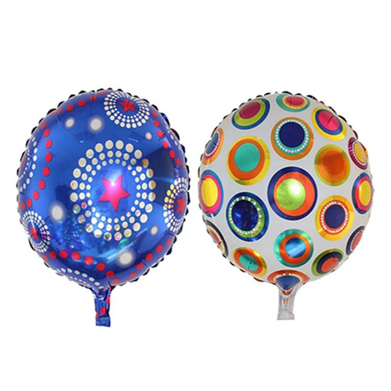 2pcs 18 Inch Foil Balloon Star Mylar Balloons Helium Balloon Inflatable Children
