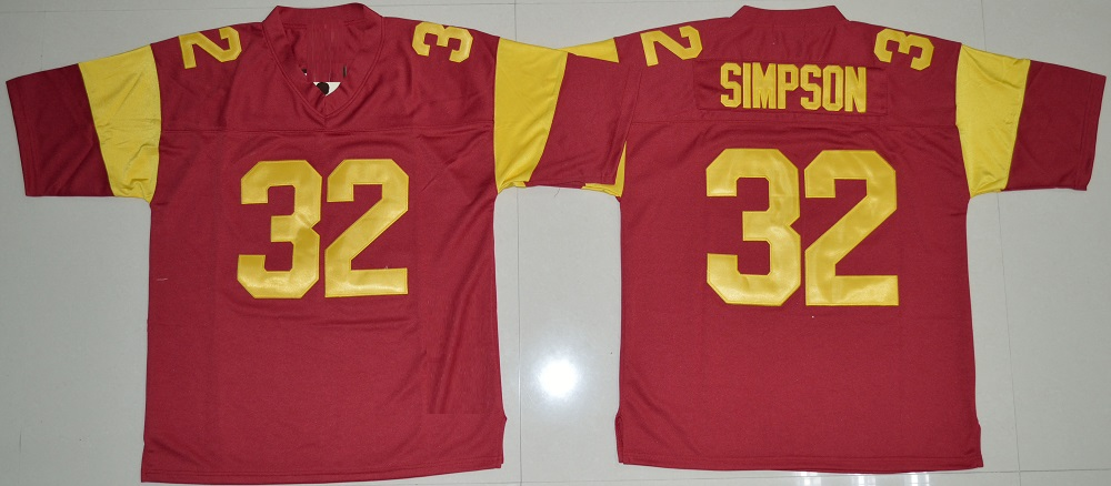 f9df99a86c1 ... get dueweer mens usc trojans o.j. simpson college football jersey  vintage red 32 oj simpson stitched
