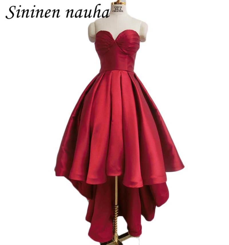 Red   Prom     Dress   Party Homecoming   Dresses   For Juniors Women Sweetheart High Low A Line Plus Size Vestidos De Festa Longo 219