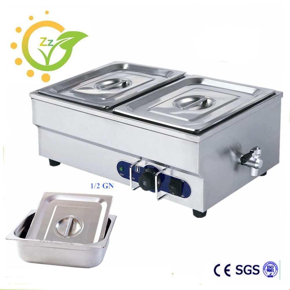 Household Commercial Bain Marie Mini Electric Food Warmer Kitchen 2 Pan Buffet Tool with Temperature Control