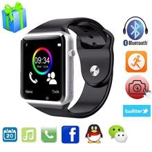 Reloj inteligente A1 para IOS Android Samsung Xiaomi Teléfono PK U8 SmartWatch DZ09 GT08 Con Cámara Bluetooth Podómetro Reloj Electrónico