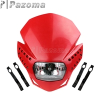 LED Red Motorcycle Streetfighter Headlight Fairing Enduro Motocross Lighting Lamp for Honda CRF230F 50F CRM FMX CR XR Headlights