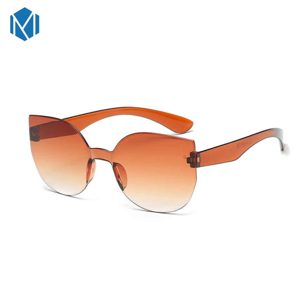 MISM Classic Rimless Round Mirror Sunglasses Women Luxury Brand Design Cat Eye Sun Glasses Men/women Eyewear gafas de sol mujer