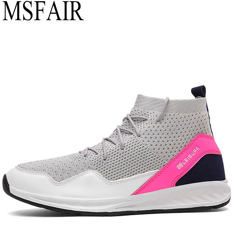 MSFAIR Men Running Shoes Brand Outdoor Athletic Sport Shoes For Man Super Light Sports Run Summer Breathable Mesh Male Sneakers msstor 2018 men s running shoes man brand summer breathable mesh mens sneakers outdoor athletic sports run sport shoes for men